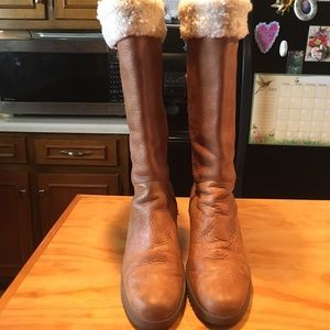 Women UGG 'Felicity' Leather Sheepskin Tall Boots